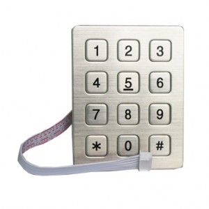 12 keys numeric door lock keypad-B720