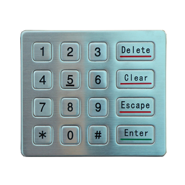 Keypad stainless steel