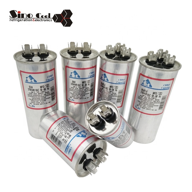 Refrigeration part aluminum CBB65 Capacitor for air conditioner