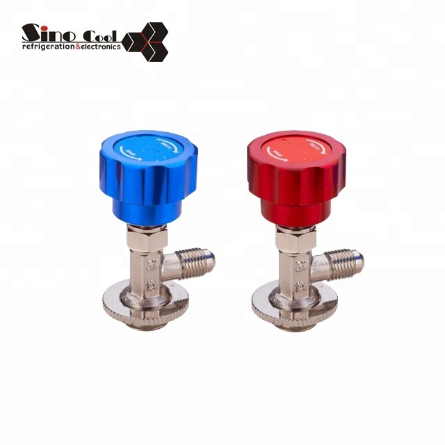 High quality R12 R22 R134a Refrigeration Brass Can Tap Valve