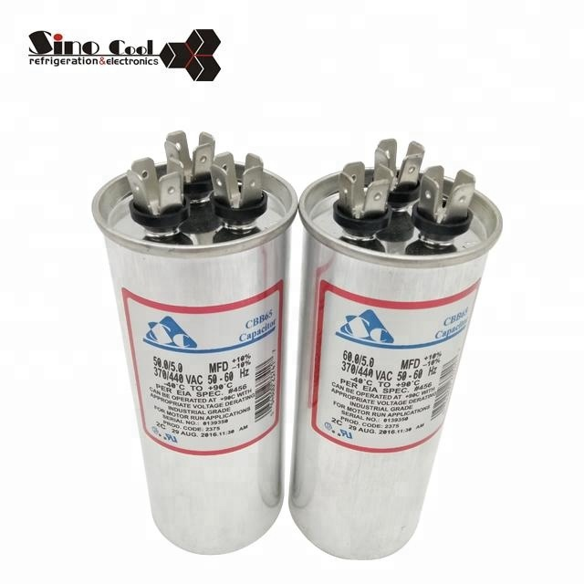Air conditioner compressor capacitor