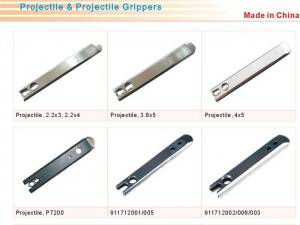 Projectile loom accessories and parts