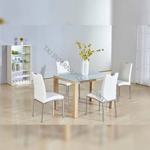 BD-1663 Tempered Glass Dining Table