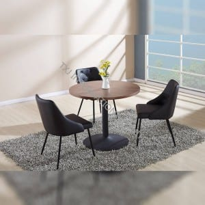 BD-1450 Factory made hot-sale European Style Square Mdf Restaurant Designers Dining Table And Chair Sets