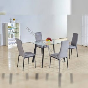 Original Factory Restaurant Furniture Dining Table Set Tempered Glass Dining Table