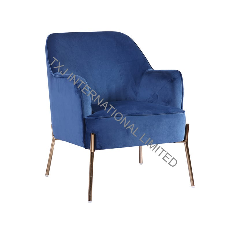 DELIA Velvet Fabric Relax Chair Featured Image
