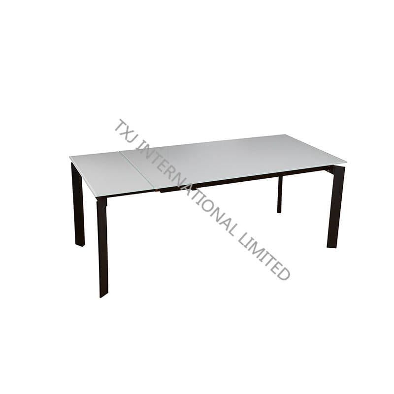 VILLAS Extension Table ,Tempered Glass Top Featured Image