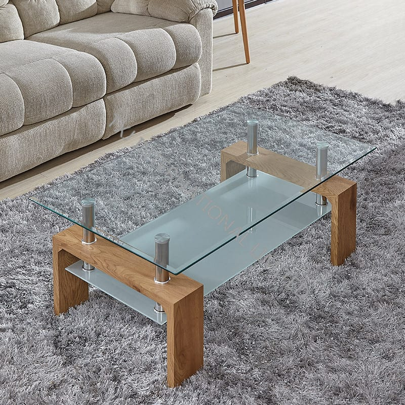 FOCUS-F Tempered Glass Coffee Table With MDF Frame Featured Image