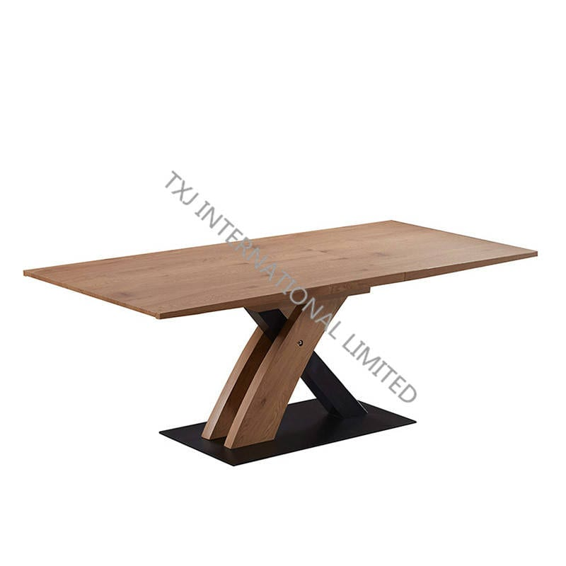EXPRESS-DT MDF Extension Table With Oak Paper Veneer Featured Image