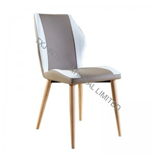TC-1652 PU Dining Chair with Ash Solid Wood Leg