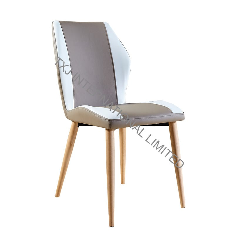 TC-1652 PU Dining Chair with Ash Solid Wood Leg Featured Image