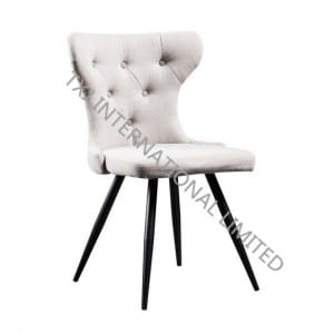 TC-1839 Fabric Dining Chair With Black Powder Coating Legs