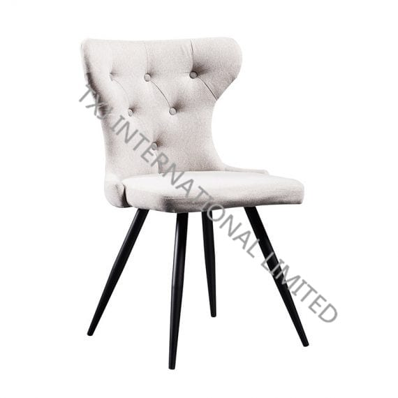 TC-1839 Fabric Dining Chair With Black Powder Coating Legs Featured Image