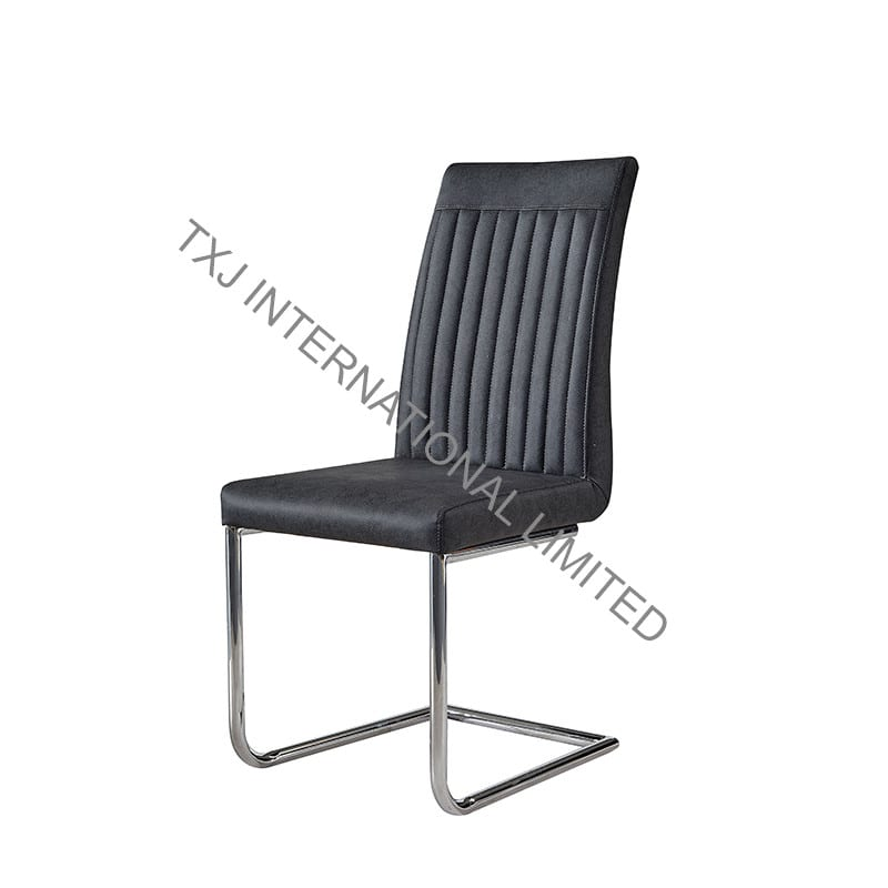 TC-1783 PU Dining Chair with Chromed Frame Featured Image