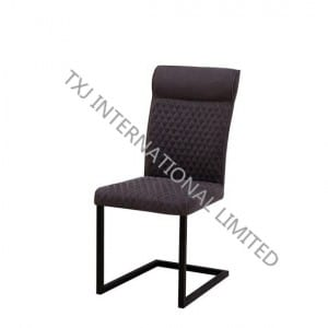 TC-1739 Fabric Dining Chair With Black Color Frame