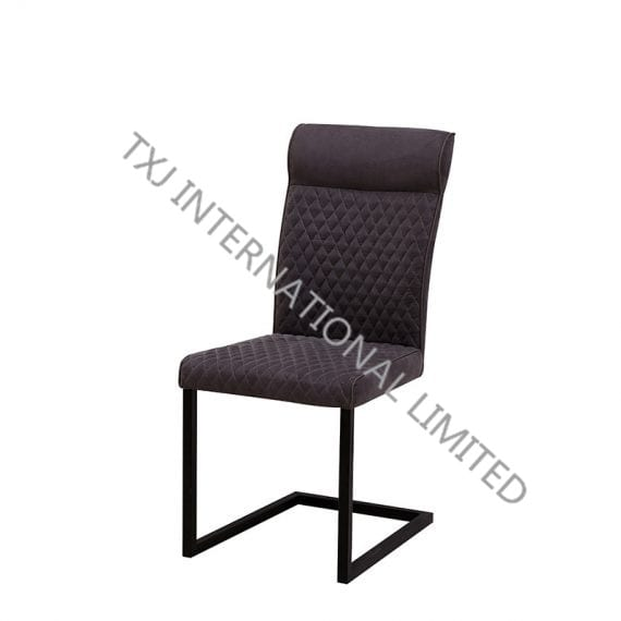 TC-1739 Fabric Dining Chair With Black Color Frame Featured Image