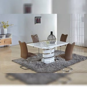 TD-1660 MDF Extension Table ,High Glossy White