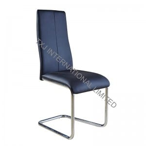 TC-1676 PU Dining Chair with Chromed Legs