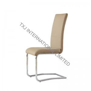 TC-1724 PU Dining Chair with Chromed Tubes