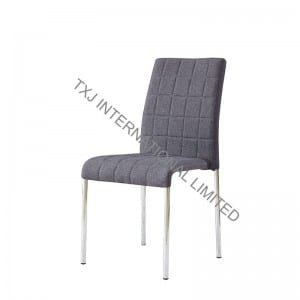 TC-1733 Fabric Dining Chair With Chromed Legs