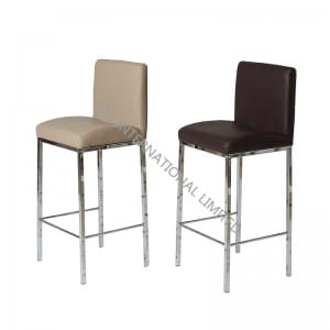 BC-1310 PU Barstool Bar Chair with Chromed Leg