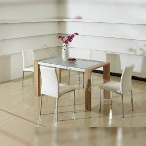 BD-1502 Tempered Glass Dining Table