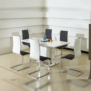TD-1516 MDF Dining Table White Color