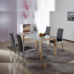 Reasonable price Painted Dining Chair - BD-1419 Tempered Glass Dining Table with MDF Legs – TXJ