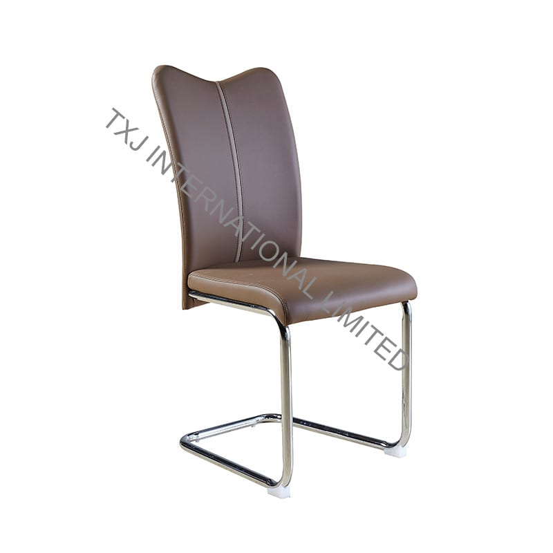 TC-1650 PU Dining Chair with Chromed Flat Tube Featured Image