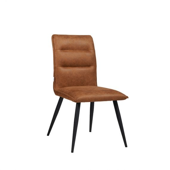 EVI Fabric Dining Chair With Black Powder Coating Frame Featured Image