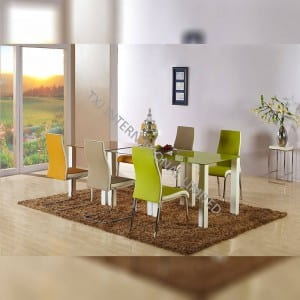 CTD-007C Tempered Glass Dining Table