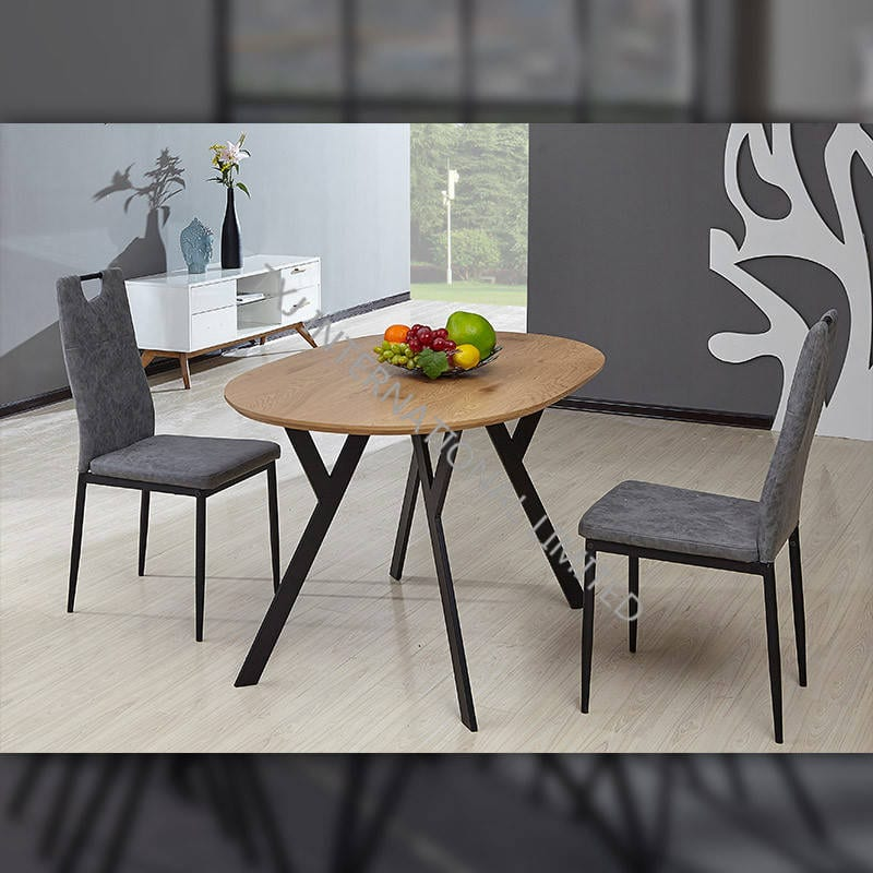 China Td 1756 Mdf Dining Table Oak Paper Veneer Oval Shape Manufacturers And Suppliers Txj
