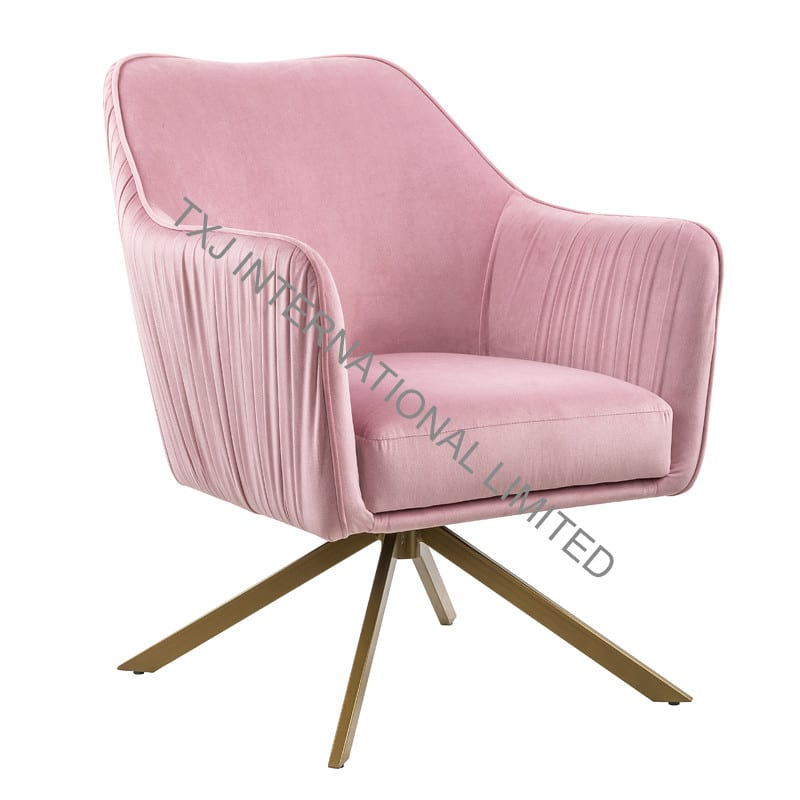 BABARA Velvet Fabric Relax Chair Featured Image