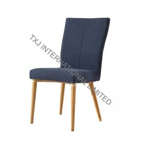 TC-1707A Fabric Dining Chair With Solid Wood Legs