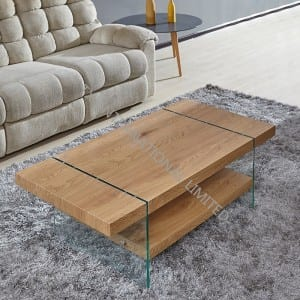 BT-1729 MDF Coffee Table With Oak Paper Veneer
