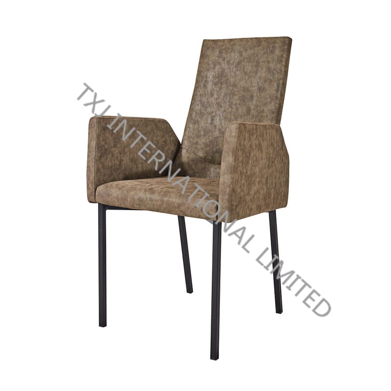TC-1835 Miami PU Dining Chair/Armchair with Black Frame Featured Image