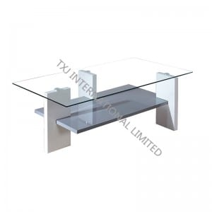 BT-1424 Tempered Glass Coffee Table With MDF Leg