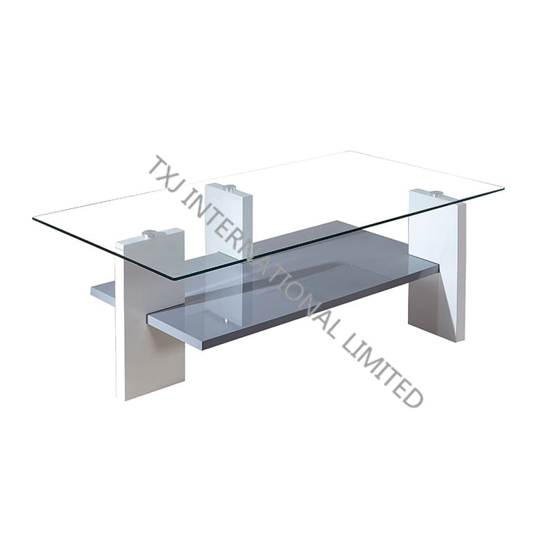 BT-1424 Tempered Glass Coffee Table With MDF Leg Featured Image