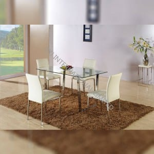 BD-1523 Clear tempered glass dining table