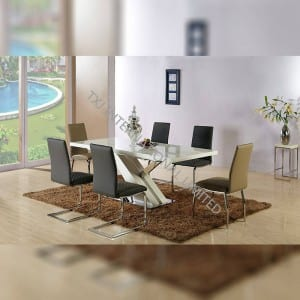 Factory directly China Wholesale Wooden MDF with painting Dining Table