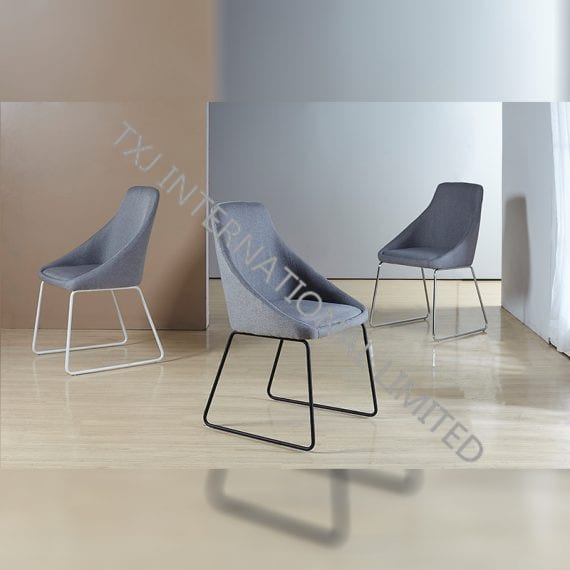 TC-1653 Fabric Dining Chair With Black Powder Coating Legs Featured Image
