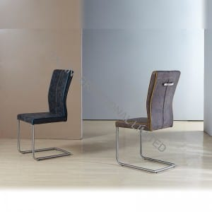 TC-1672 PU Dining Chair with Brush Stainless Steel Feet