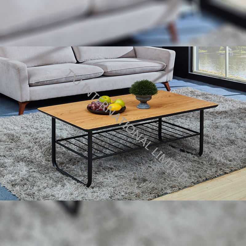 TT-1877  MDF Coffee Table Oak Color Featured Image