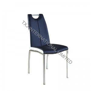 BC-1661 PU Dining Chair With Chromed Frame