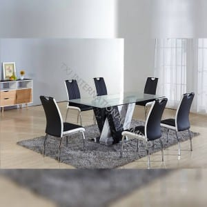 BD-1664 Tempered Glass Dining Table