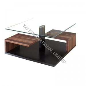BT-1429 Tempered Glass Coffee Table With MDF Frame