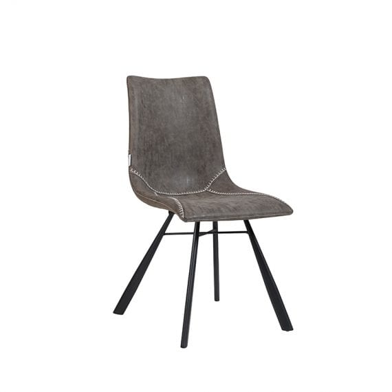 MADRID-1 Fabric Dining Chair With Black Powder Coating Frame Featured Image