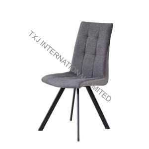 BC-1731 Fabric Dining Chair With Black color tube