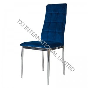 BC-1552 Velvet Dining Chair With Chromed Legs