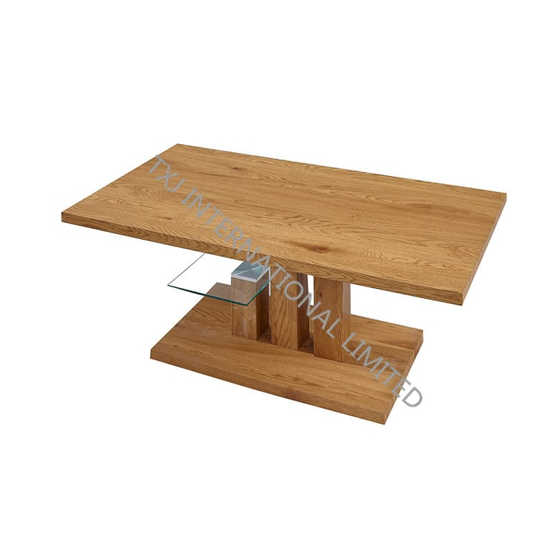 BT-1733 MDF Coffee Table With Oak Paper Veneer Featured Image